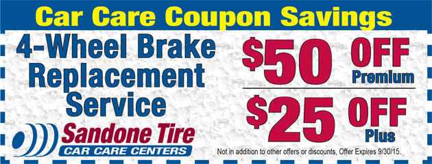 $50 Off 4-Wheel Brake Replacement in September