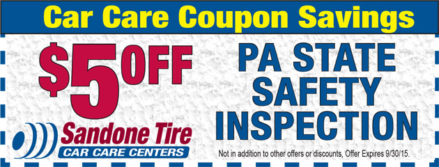 $5 Off PA State Safety Inspection in September