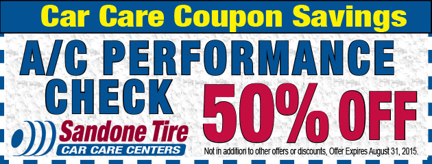 50% Off A/C Performance Check in August