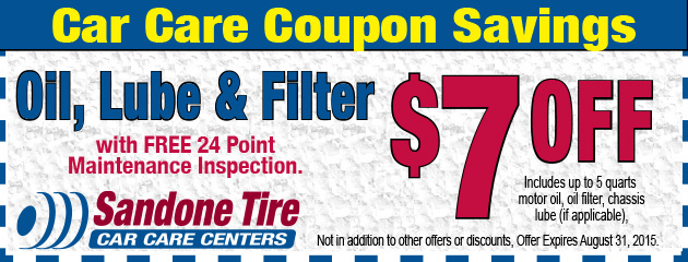 $7 Off Oil, Lube & Filter in August