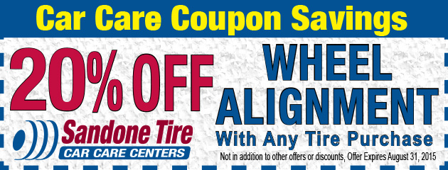 20% Off Wheel Alignment in August