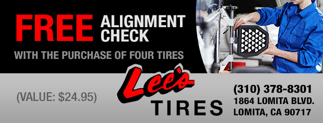 FREE Wheel Alignment with Purchase of 4 Tires