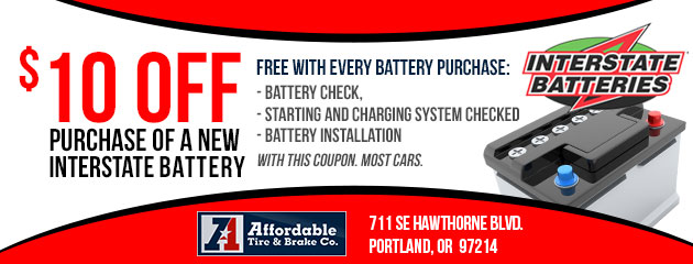 $10 Off Purchase of a New Battery
