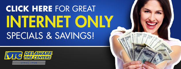 Internet Only Specials and Savings!