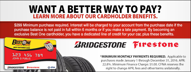 Best-One Tire Bridgestone CFNA - 2016