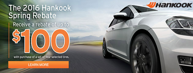Hankook Up to $100 Rebate on Select Tires
