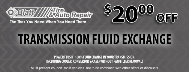 Transmission Fluid Exchange - $20 off