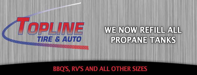 Topline Tire and Auto Propane Tanks