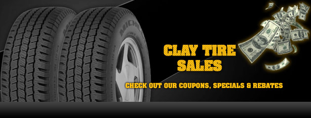 Clay Tire Sales Savings