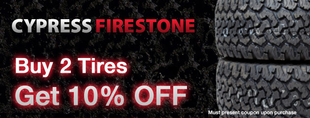 10% off 2 Tires Special