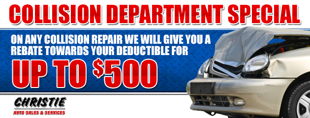 Up to $500 collision repair rebate