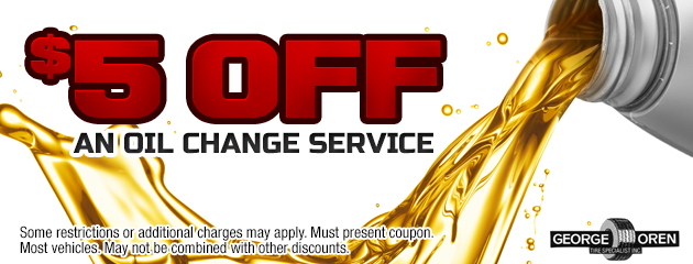$5 off an oil change service