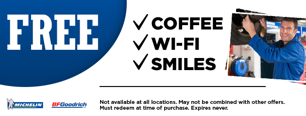 Free Coffee, wi-fi and smiles