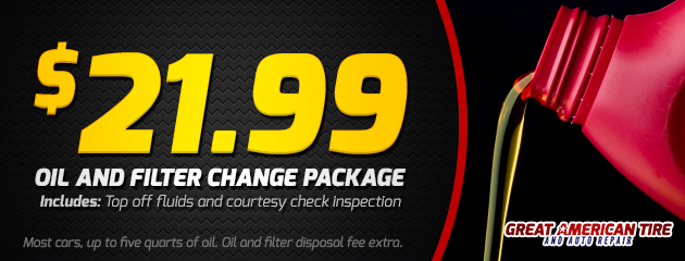 $21.99 Oil & Filter Change Package