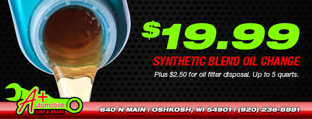 $19.99 Synthetic Blend Oil Change