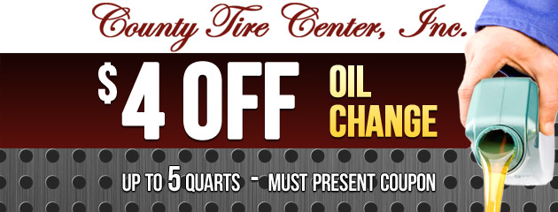 $4 OFF Oil Change