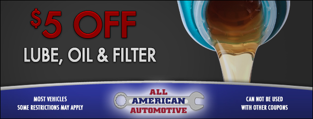 $5 Off Oil Lube and Filter
