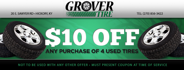 $10 off 4 used tires