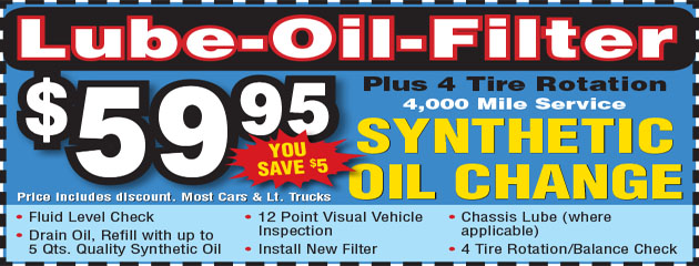 Oil and Lube Coupon
