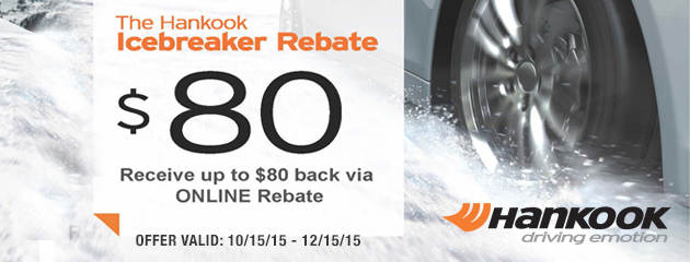 Hankook Ice Breaker $80 Fall Rebates
