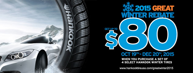 Hankook 2015 Great Winter Rebate