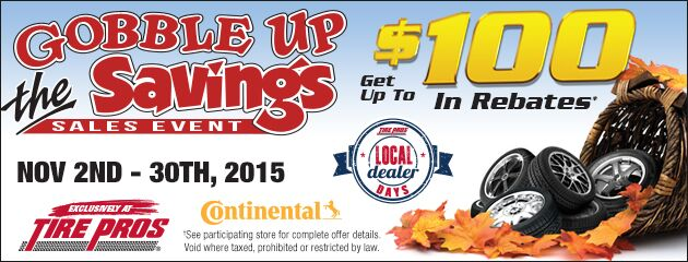 Continental Tire Pros Gobble Up The Savings