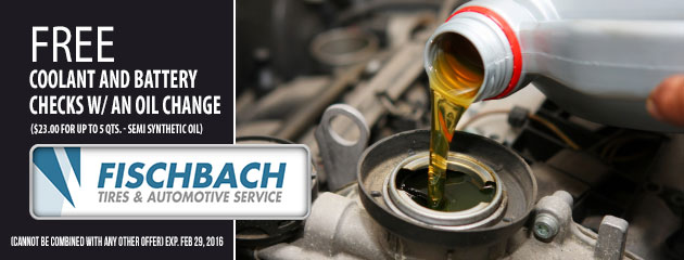 Free Coolant and battery checks with an oil change