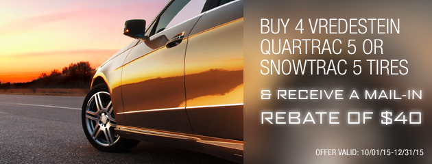 $40 Mail-in Rebate on Vredestein Quartrac 5 / Snowtrac Tires