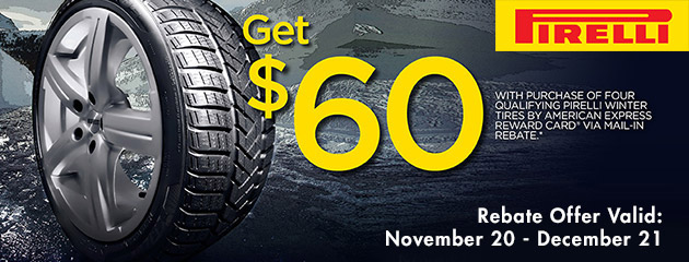 Pirelli $60 Winter Tire Rebate