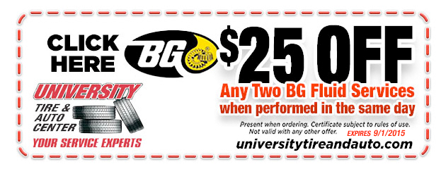 $25 Off Any 2 BG Fluid Services