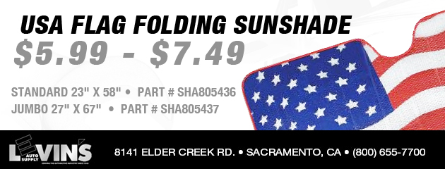 US Flag Folding Sun Shade