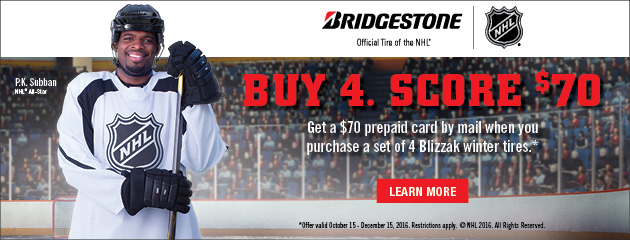 Bridgestone $70 Winter Promotion