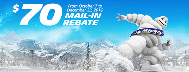 Michelin Buy a set of 4 new tires get $70 via Mail-In Rebate