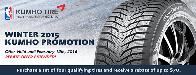 Kumho $70 Rebate Winter 2015 - Extended