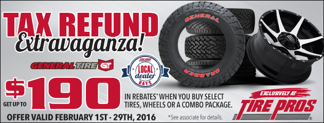 Tire Pros Tax Refund Extravaganza