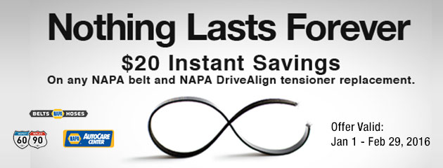 NAPA Consumer Special $20 Savings (NSD)