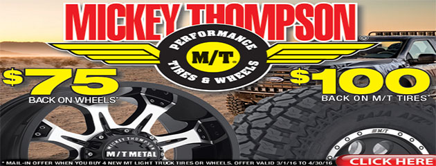 Mickey Thompson $75 Wheel and $100 Tire Rebates