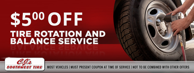 $5 Off Tire Rotation and Balance