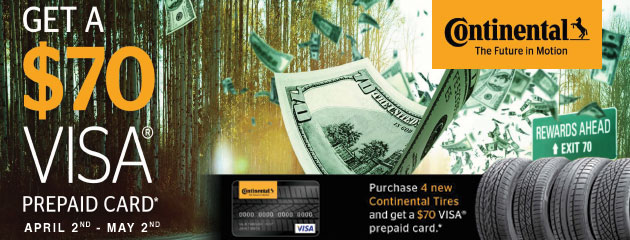 Continental Reward Yourself $70 Prepaid Card