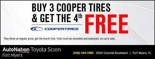 Buy 3 Cooper Tires and Get the 4th Free