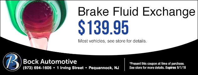 Brake Fluid Exchange $139.95