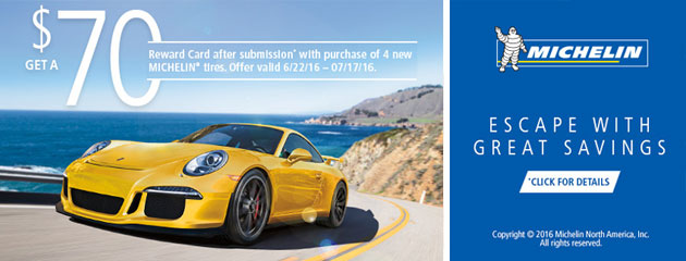 Michelin Escape With Great Savings $70 Rebate