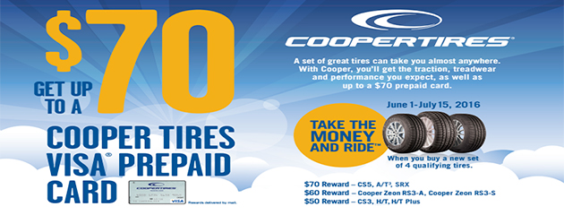 Cooper Take The Money and Ride Up to $70 Rebate