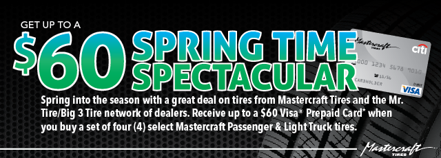 Spring Time Spectacular $60 Rebate