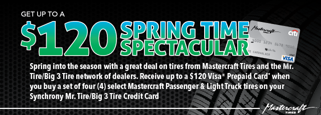 Spring Time Spectacular $120 Rebate