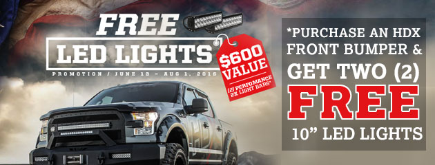 Free LED Lights w/ Pruchase of HDX Front Bumper