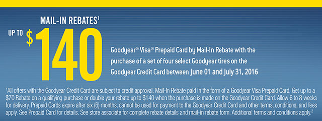 Goodyear Mail-In Rebate Offer