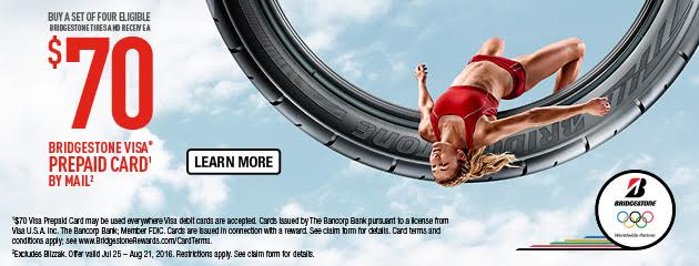 Bridgestone Olympic Games $70 Visa Rebate