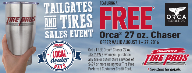 Tailgates and Tires Tire Pros Rebate