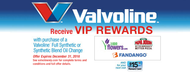 Valvoline Rewards with Oil Change